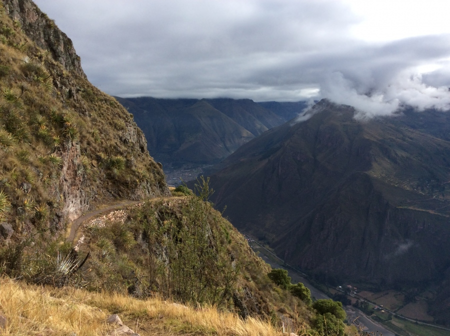hiking trail of Huchuy Qosqo in Peru