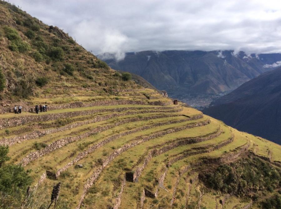 Huchuy qosqo hiking terraces Peru