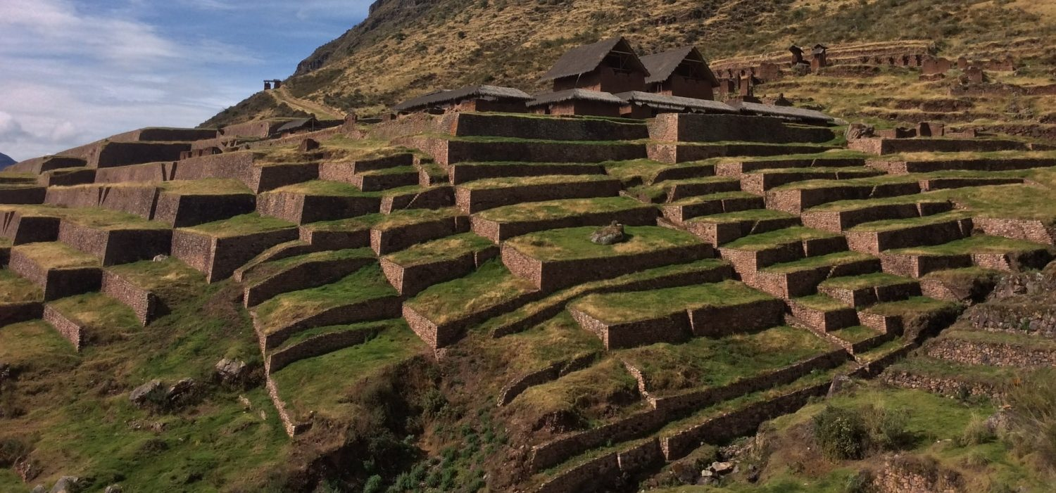 Huchuy qosqo Inca site located in Cusco Peru