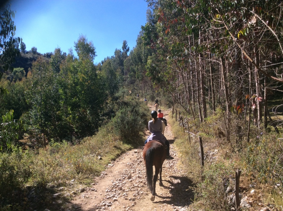 Sacred valley horseback riding Cusco