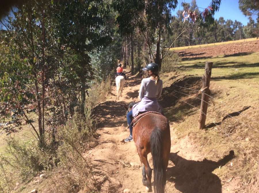 Peru sacred valley horseback riding