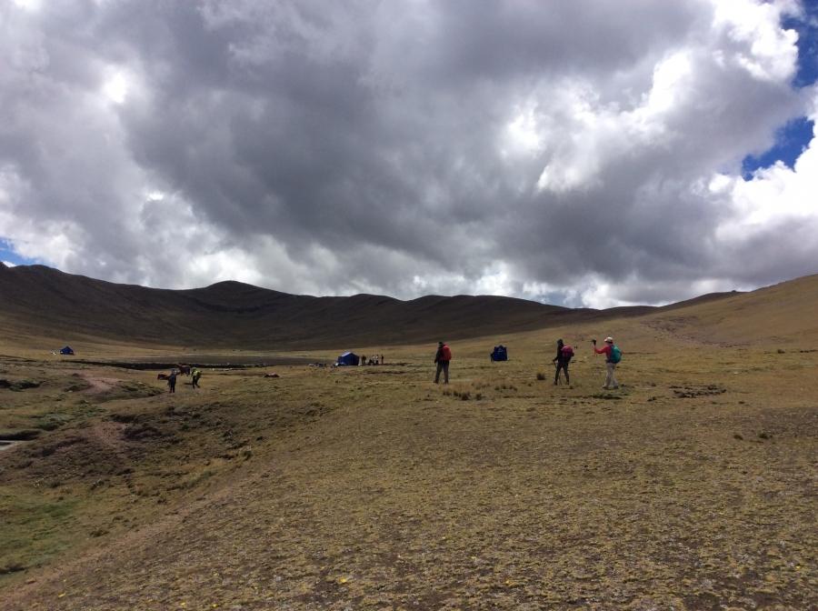 Huchuy Qosqo trail in Cusco Peru