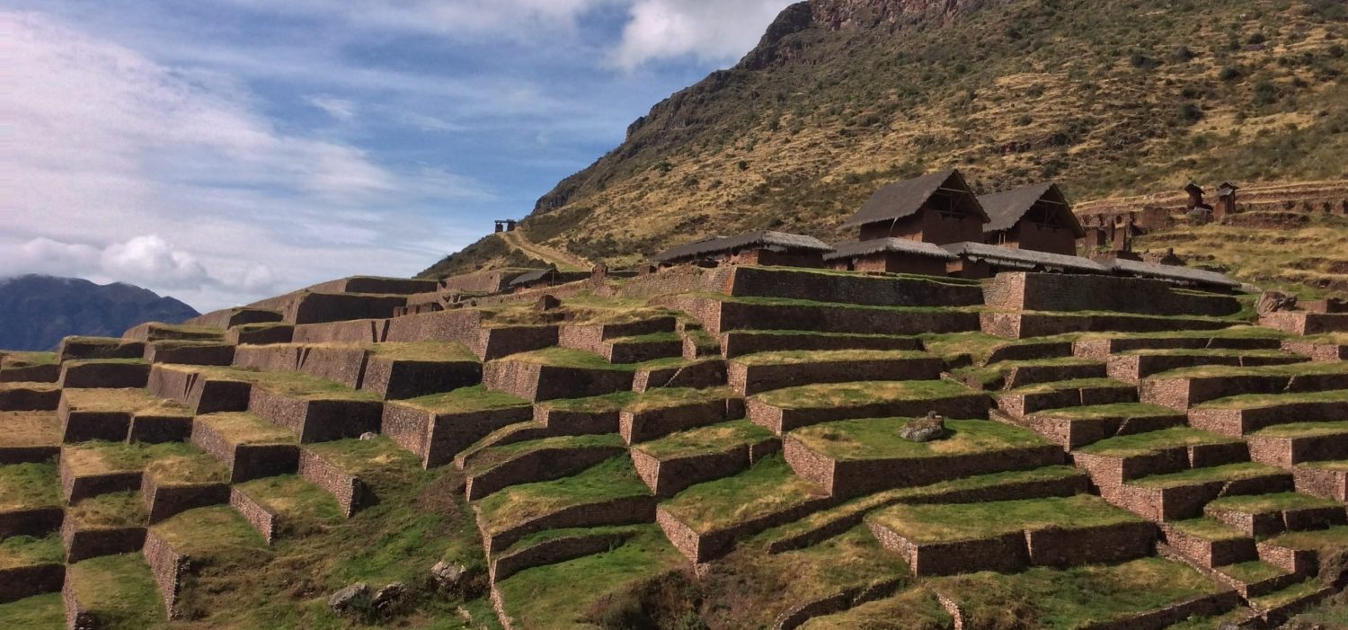 Inca site HuchuyQosqo day hike from Cusco city in Peru