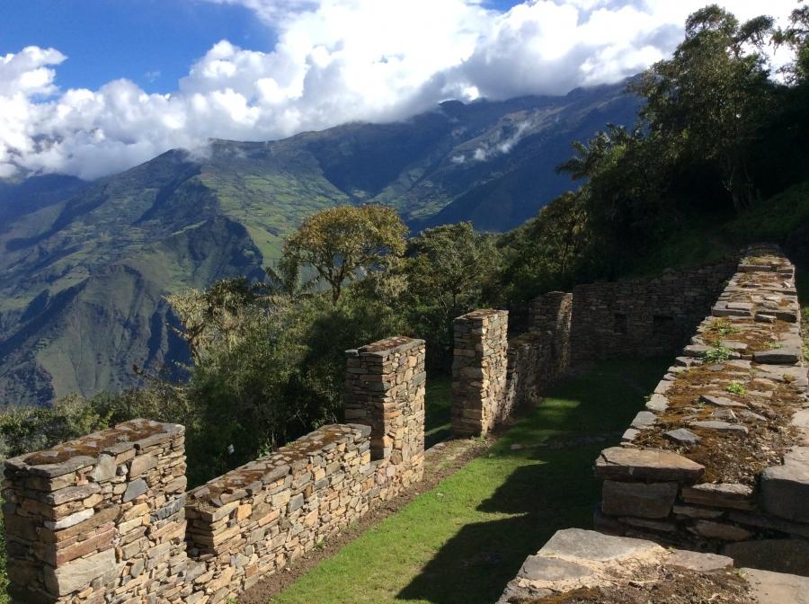 Choquequirao Inca site trek to Machupicchu