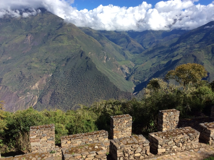 Choquequirao Inca site  views in Peru country