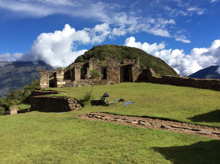 Hiking Choquequirao trail in Cusco Peru
