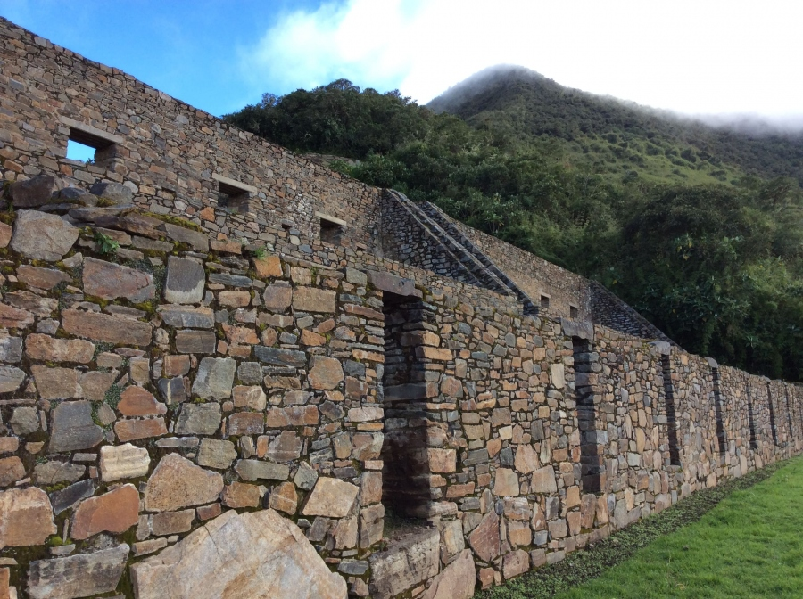 Trekking to Choquequirao Inca site in Cusco Peru