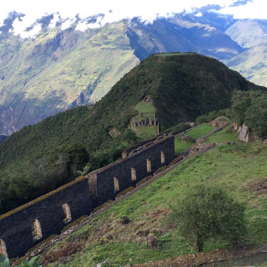 hiking Choquequirao Inca site in Peru Cusco