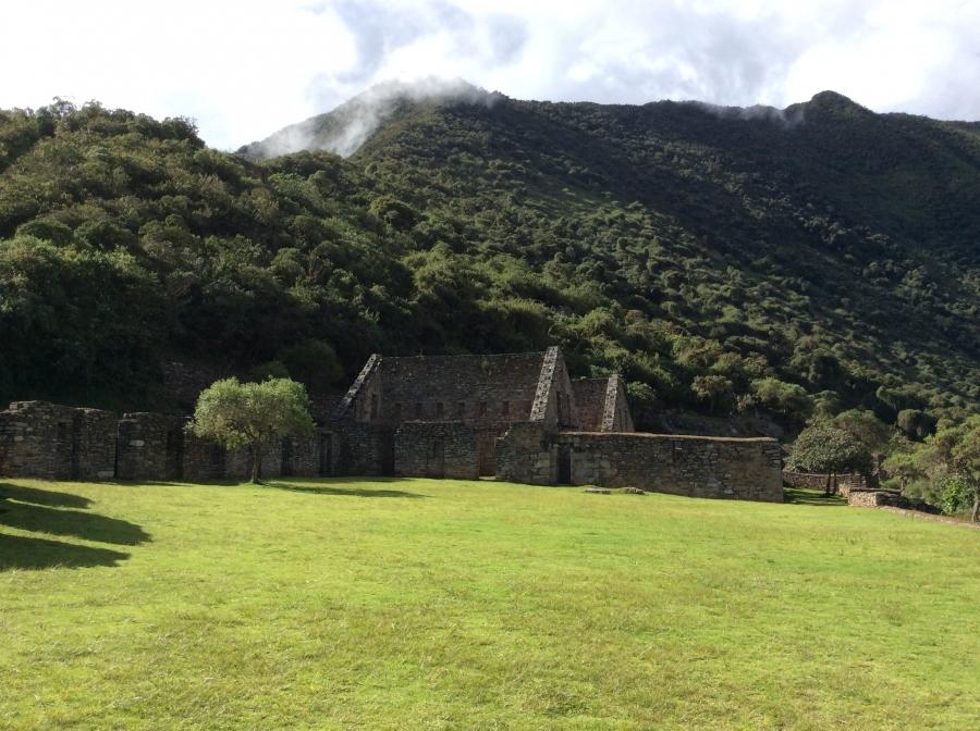 trekking Choquequirao trail in Peru