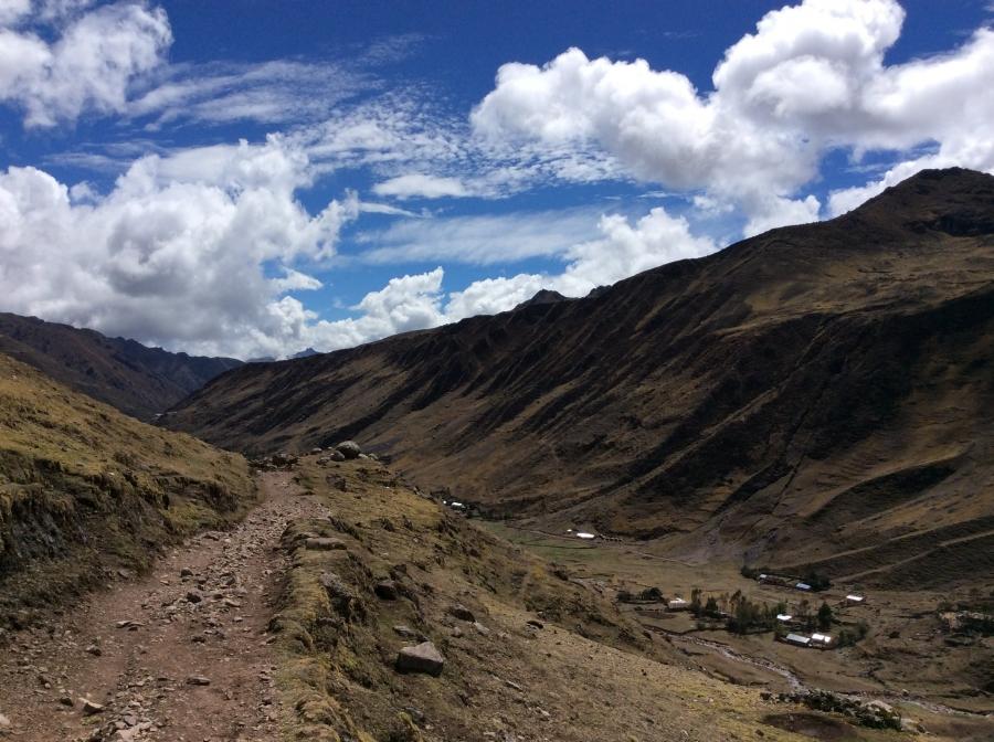 Lares valley mountain for biking Peru