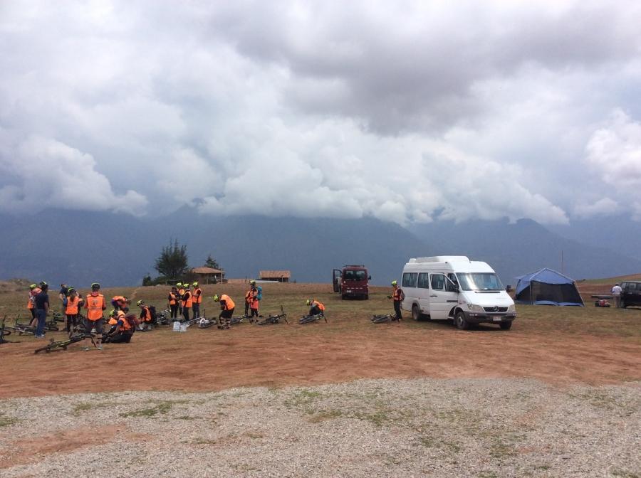 Lares trail for biking in Peru