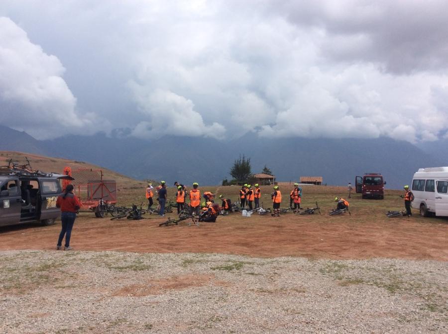 Lares mountains for biking in Peru