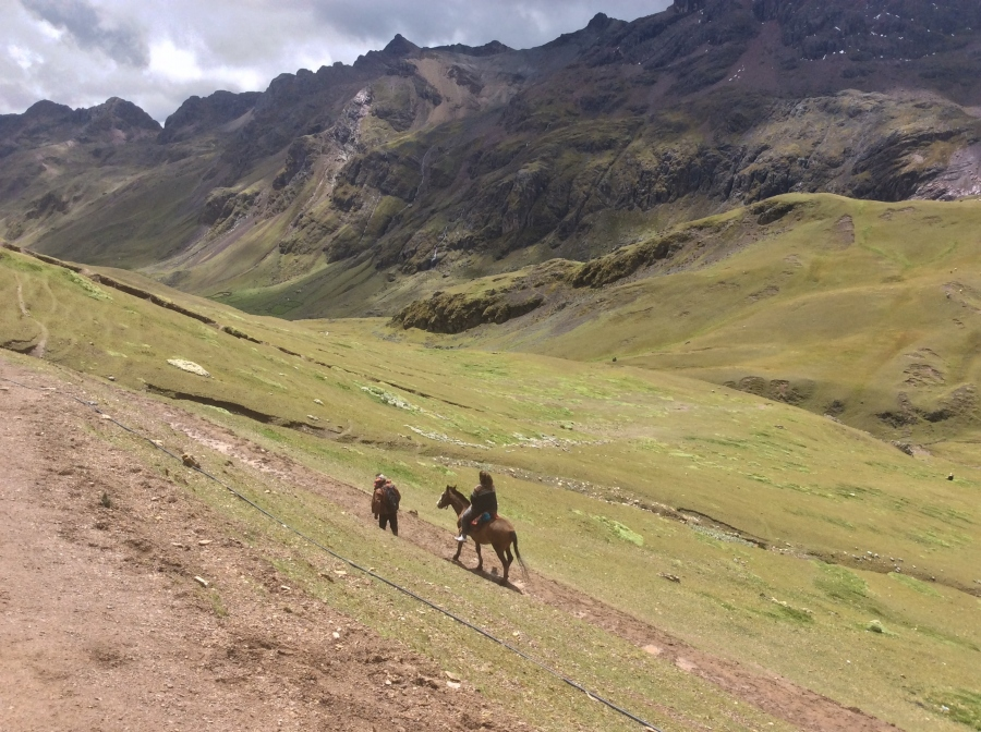 horseback riding Lares trek Cusco