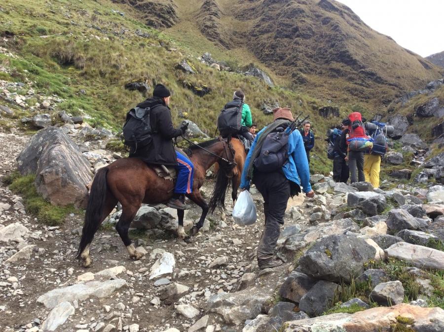 Salkantay trek with horseback riding to Machupicchu