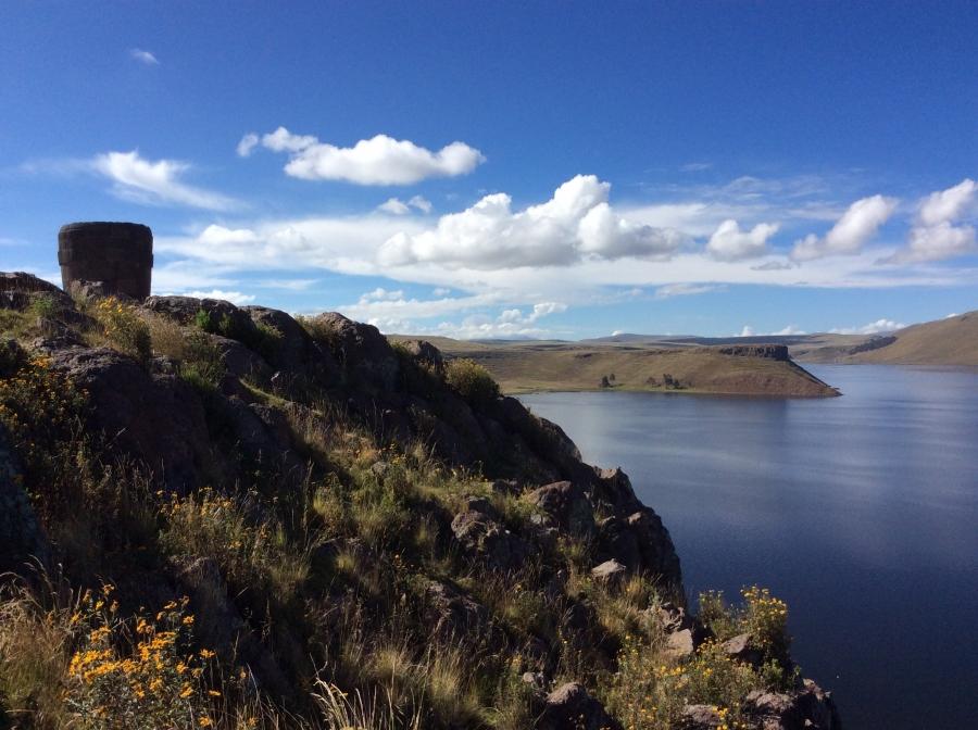 Umayo lake Puno Peru