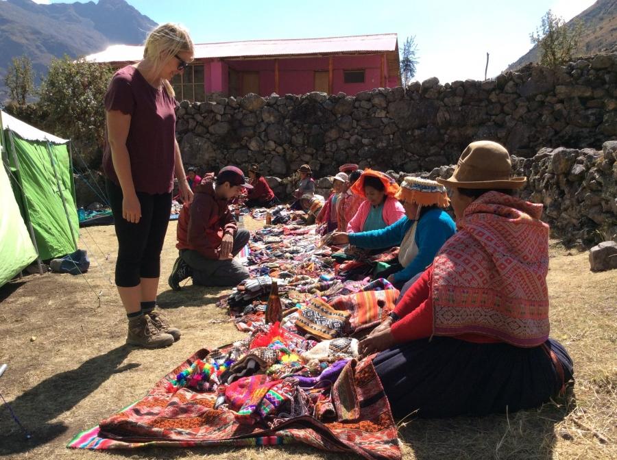 Inca women along the Lares day trip Peru