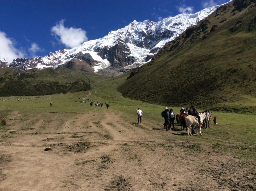 riding horses to Salkantay trek Machupicchu