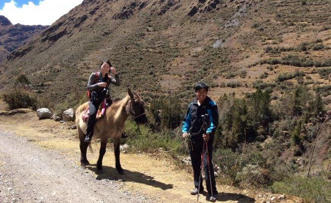hiking Lares horseback riding Peru