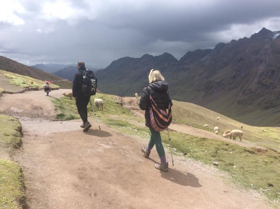 hiking Ausangate trek in Peru