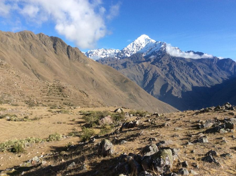 Ancascocha trekking views to Machupicchu Peru