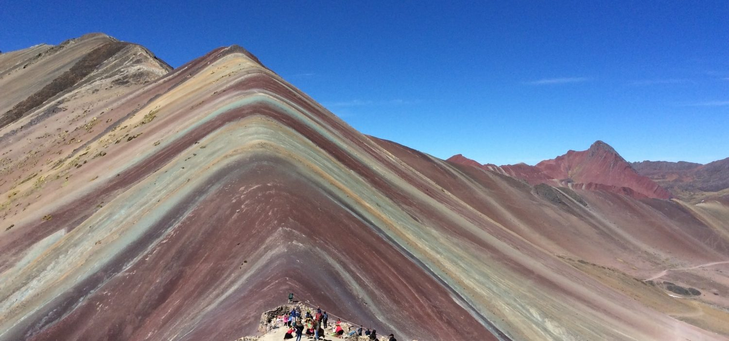 full day hike Vinicunca rainbow mountain Cusco Peru