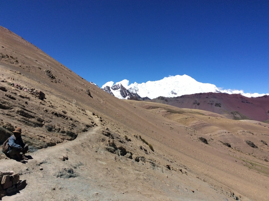Vinicunca rainbow mountain trail Cusco Peru