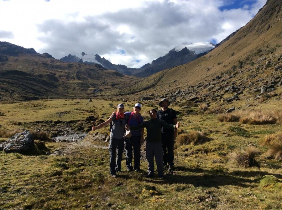 hiking the Vilcabamba trek to Machupicchu