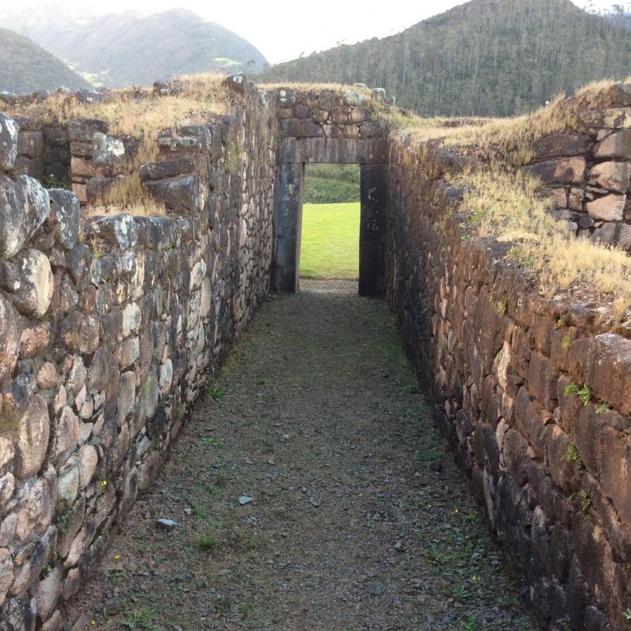Vilcabamba Inca site in Cusco Peru