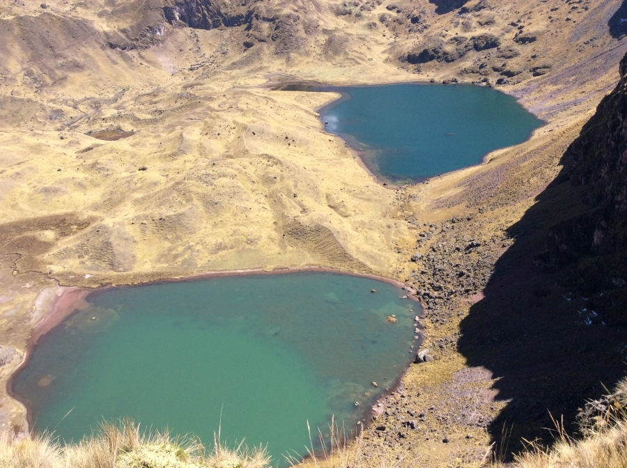 Lares trekking with lagoons in Peru