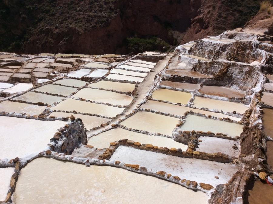 salt mine with trekking Lares in Peru