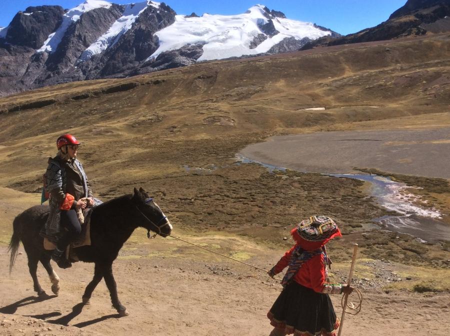 Vinicunca rainbow mountain with horseback riding Peru