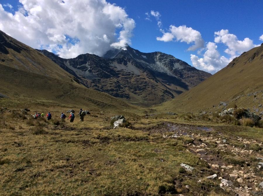 trekking the Vilcabamba mountains to Machupicchu
