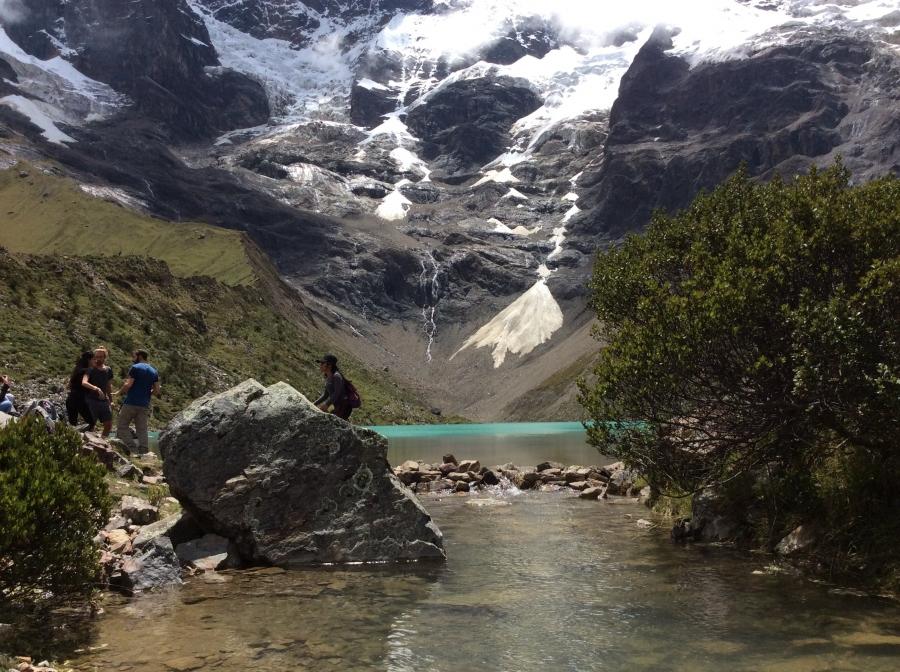 Humantay lake trekking with Salkantay mountains