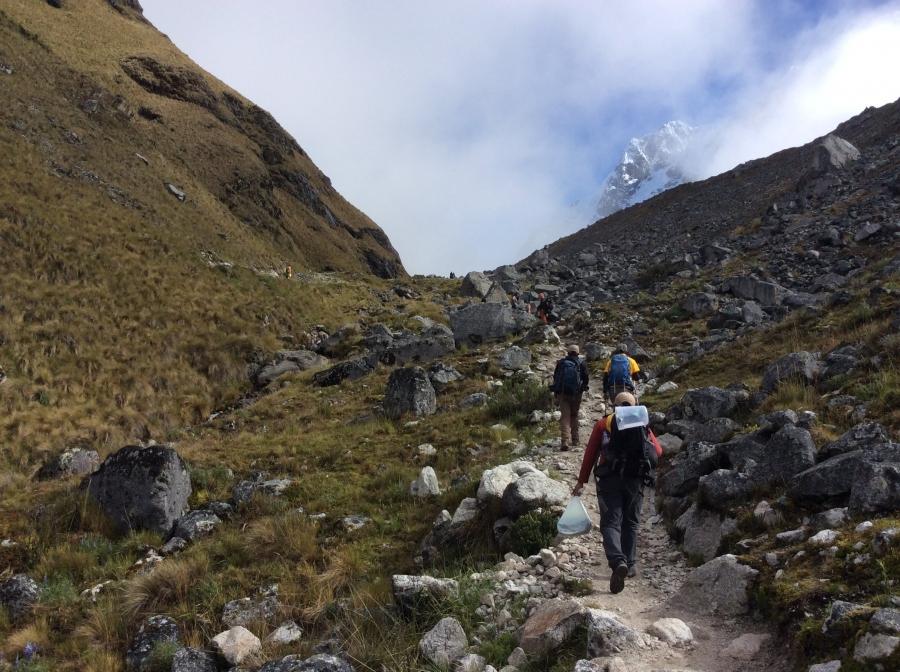 hiking Salkantay trip to Machupicchu