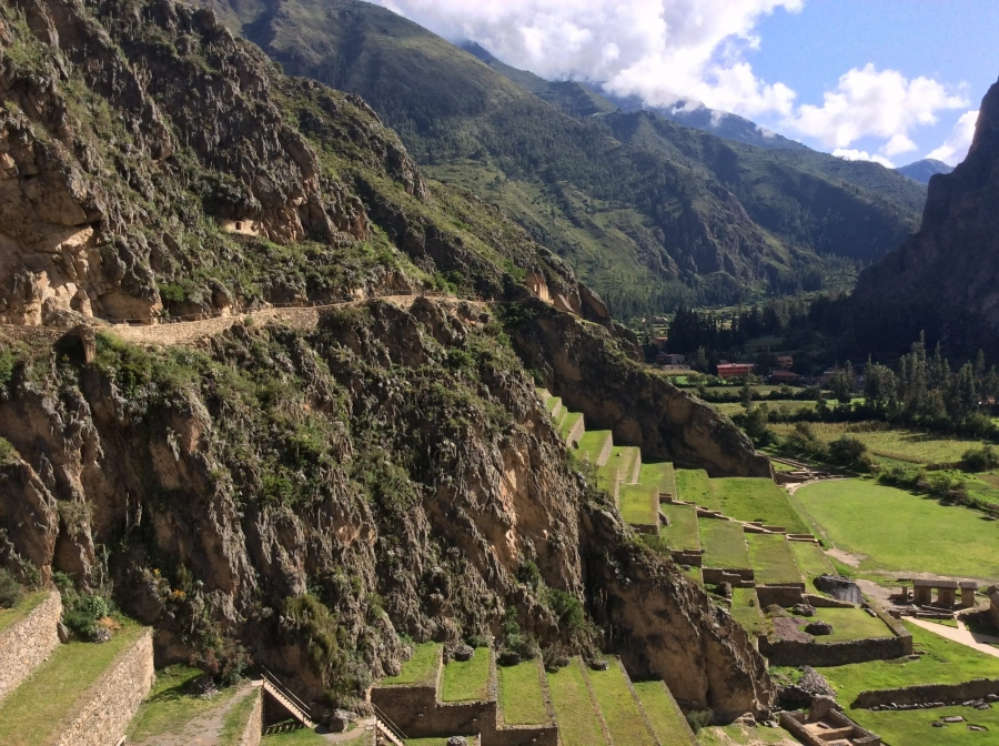 tour at Ollantaytambo Inca site in Peru trip