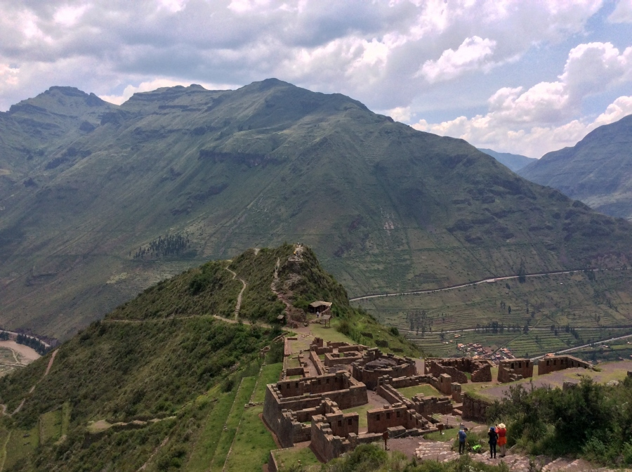 tour at Pisac Inca site with Peru trip
