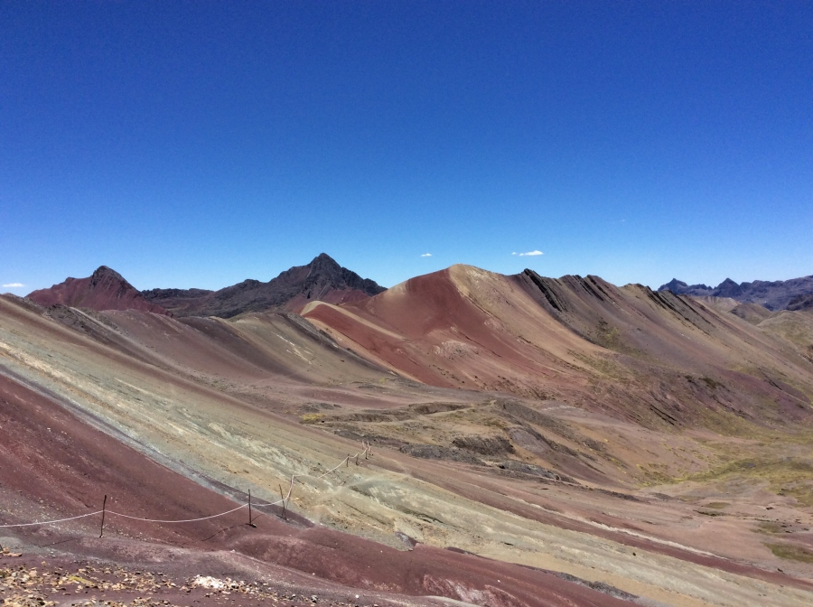 hiking the rainbow mountains in Peru Vinicunca