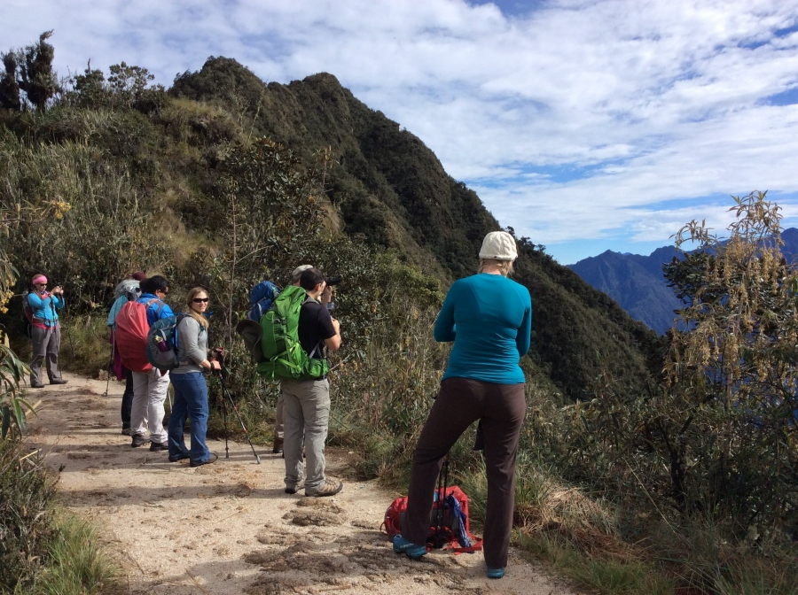 Inca trail trekking views to Machupicchu