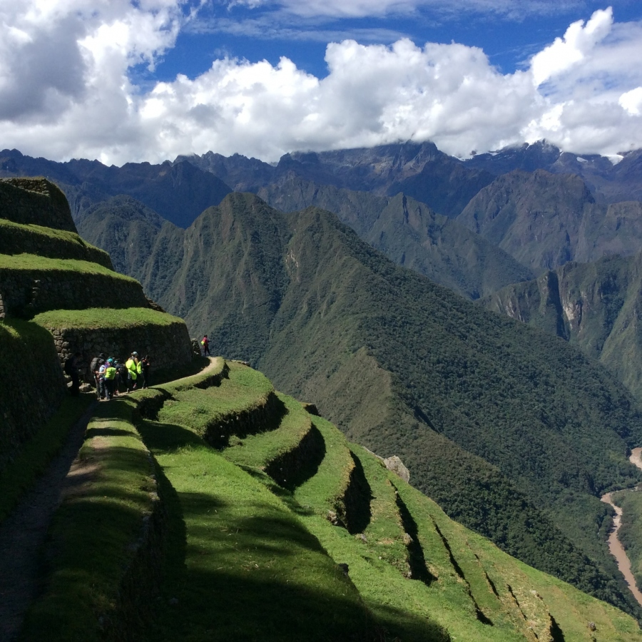 Intipata Inca site along the hiking Inca trail 4 days