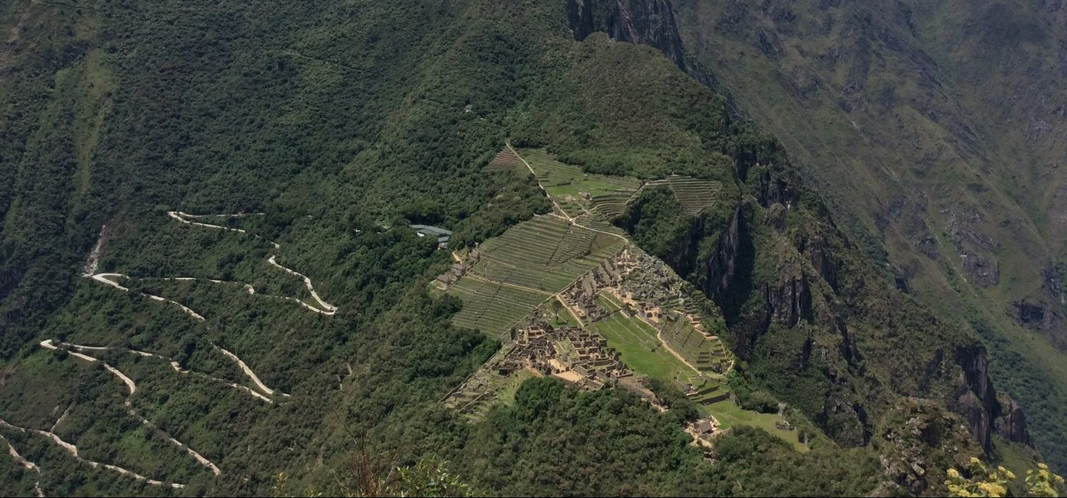 Machupicchu view from mountain hike
