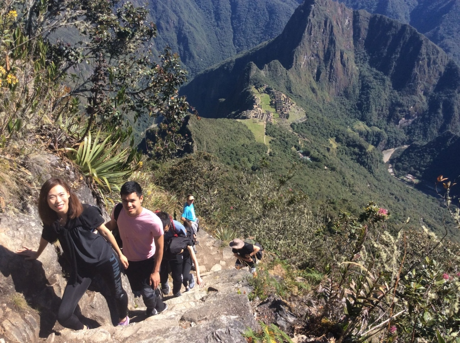 trekking to Machupicchu mountain
