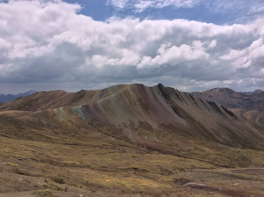 hiking Palccoyo rainbow mountain in Peru