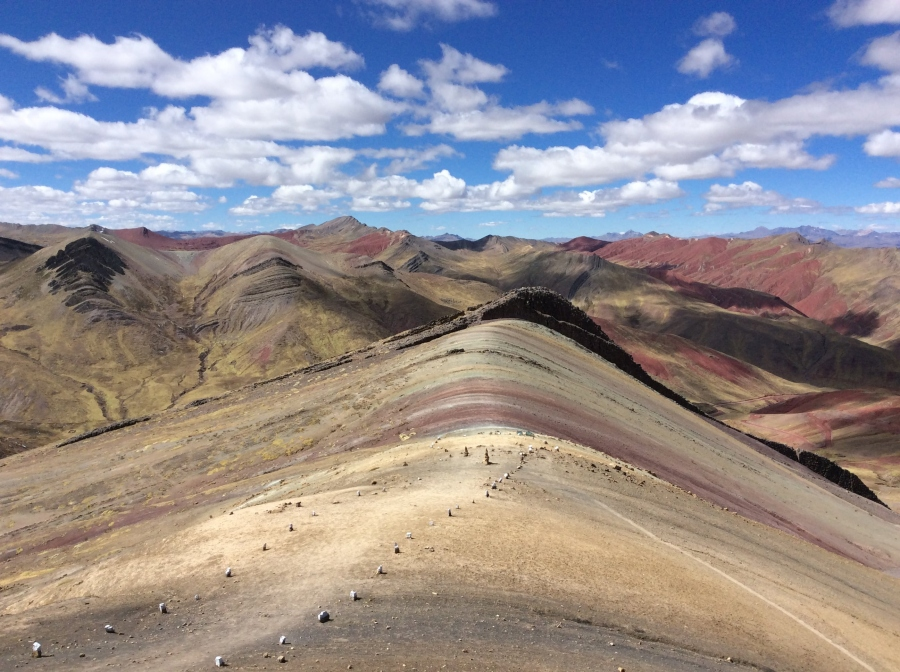 Palccoyo rainbow mountain loacated in Cusco Peru