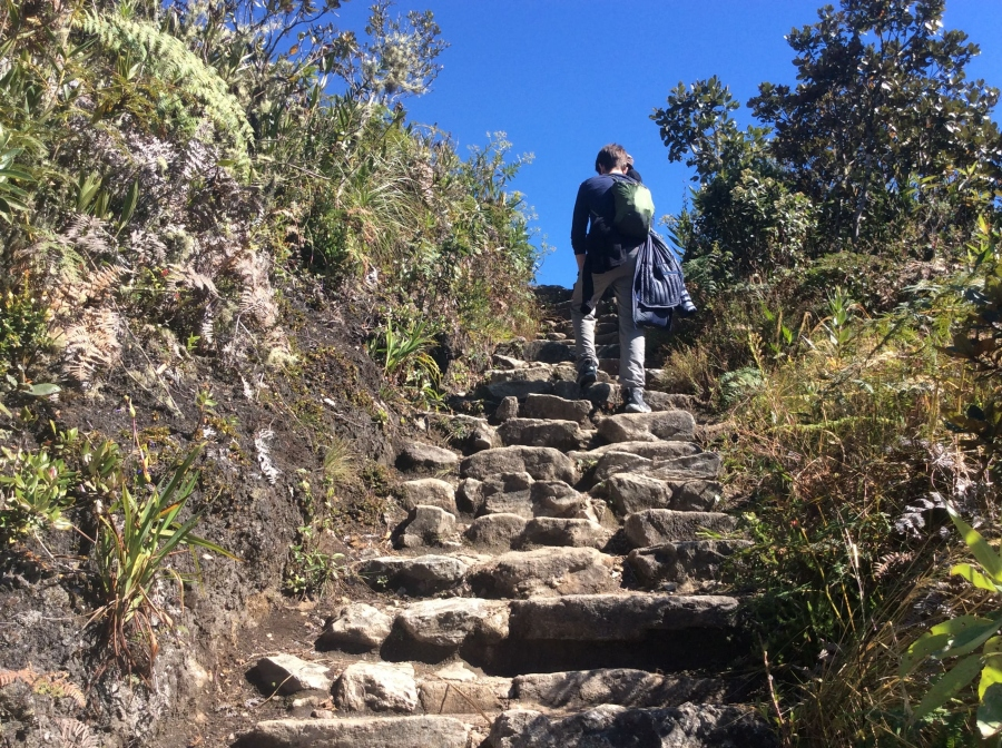 short Inca trail to Machupicchu