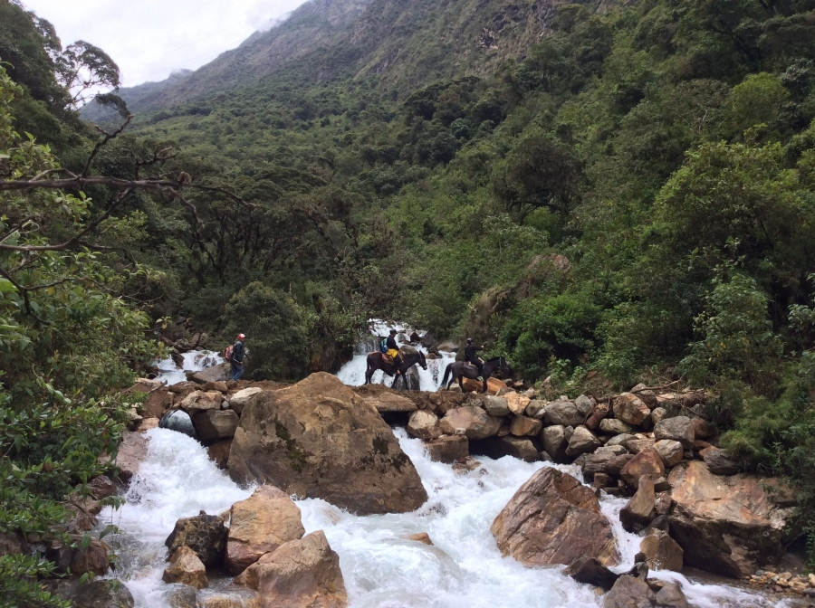 Salkantay trek horseback riding