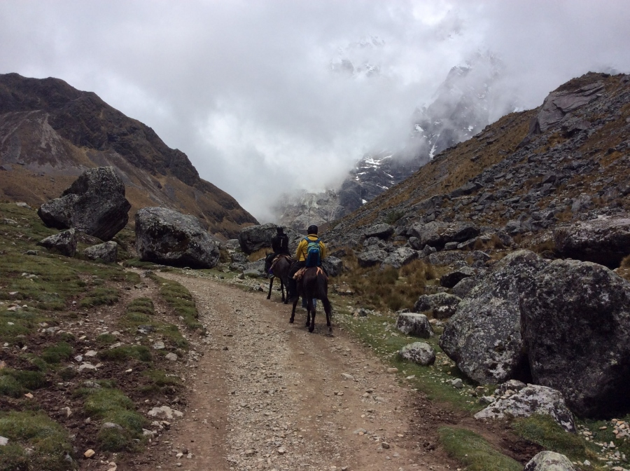 Riding horses to Salkantay trekking