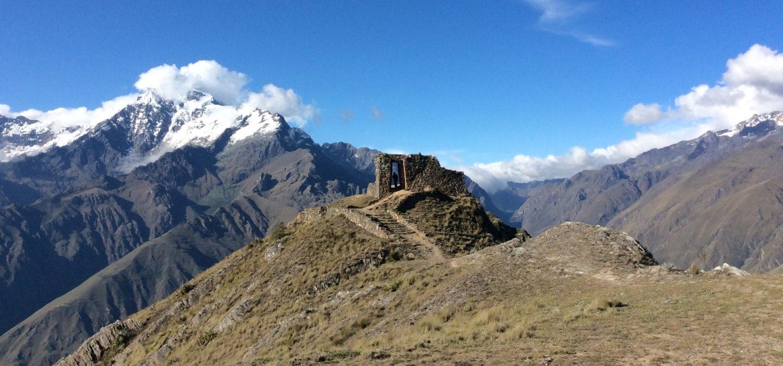 sun gate along the Quarry trek Peru