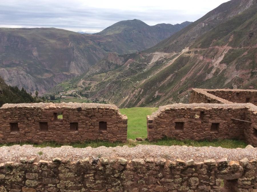 Qorimarca Inca site along the quarry trail Peru