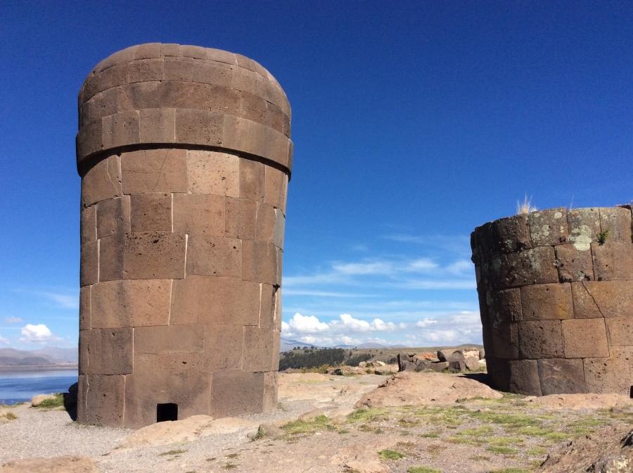 Pre-Inca Sillustani site Puno