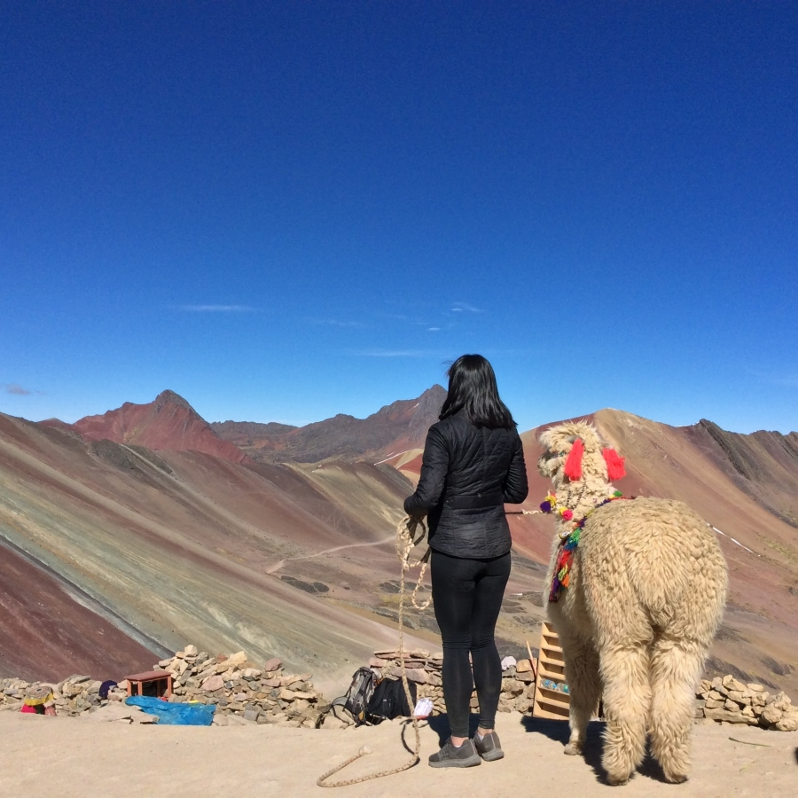 Rainbow mountains of Vinicunca Peru
